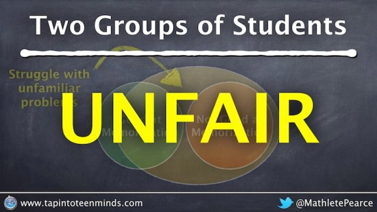 Two Groups of Math Students - Unfair to Challenge Students