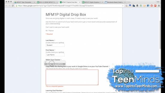 Digital Assessment Workflow With Google Drive & Google Sheets Digital Dropbox Form
