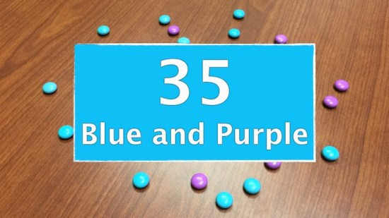 Counting Candies Sequel - Number of Blue And Purple