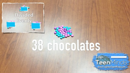 Counting Candy 3 Act Math - Act 2 - 3 Groups Divided Evenly