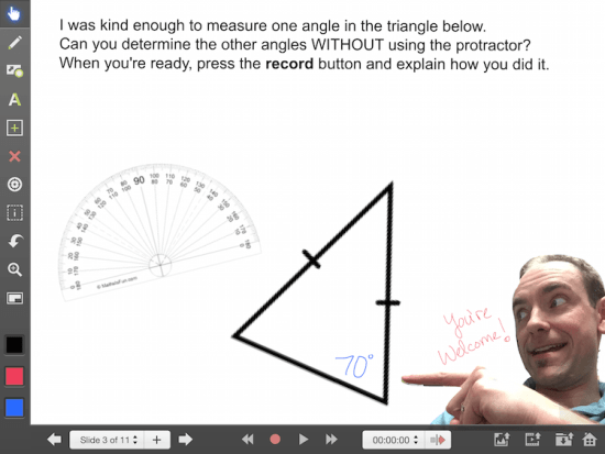 Explain Everything Math Learning Journey - Isosceles Triangle Theorem
