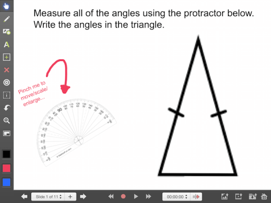 Explain Everything Math Learning Journey - Using the Protractor