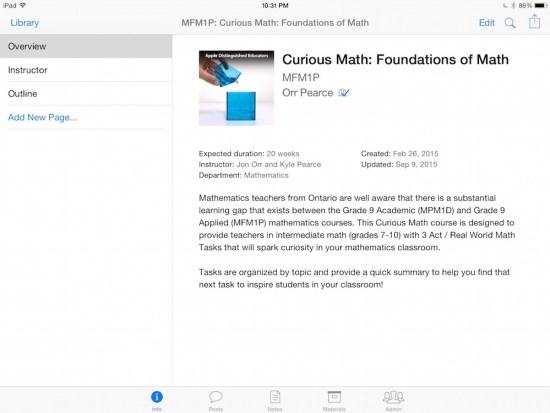 Curious Math iTunes U Course - 00 Course Information
