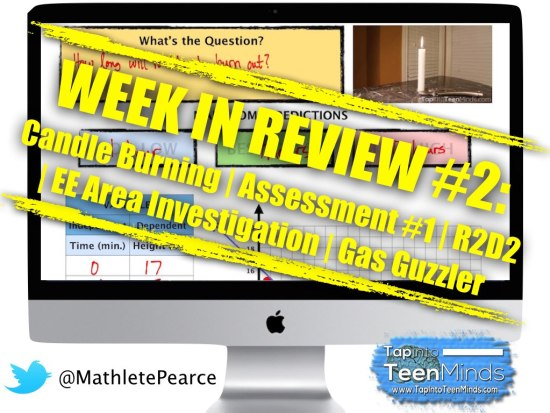 Week In Review #2 Featured Image - Candle Burning, Assessment 1, R2D2, Gas Guzzler