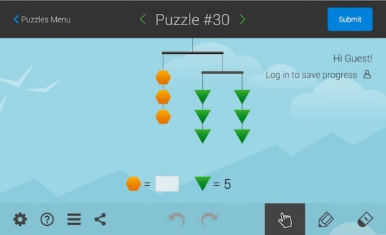 SolveMe Mobile Solving Equations Puzzle 30