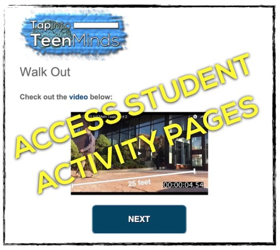 Walk Out Student Activity Page Screenshot - ACCESS