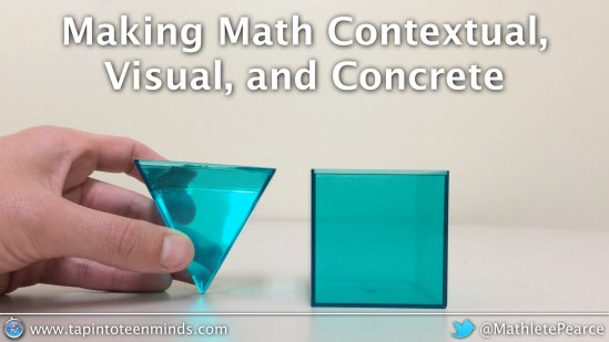 Making Math Contextual, Visual and Concrete Workshop