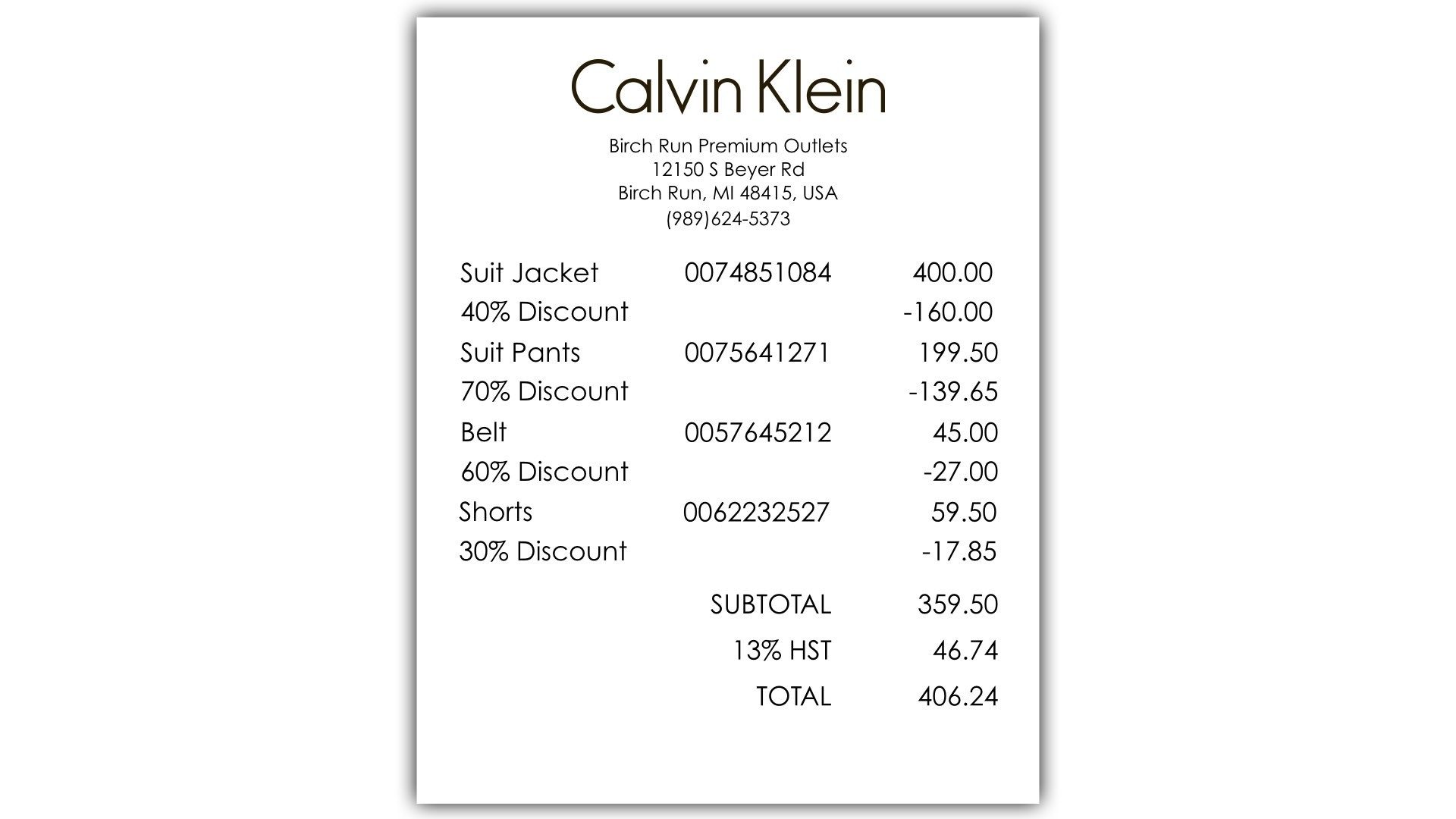 Calvin S Clearance