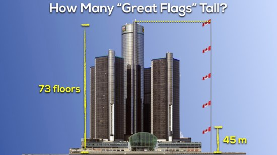 Canada 150 Math Challenge - Approximately 5 Great Canadian Flags Tall
