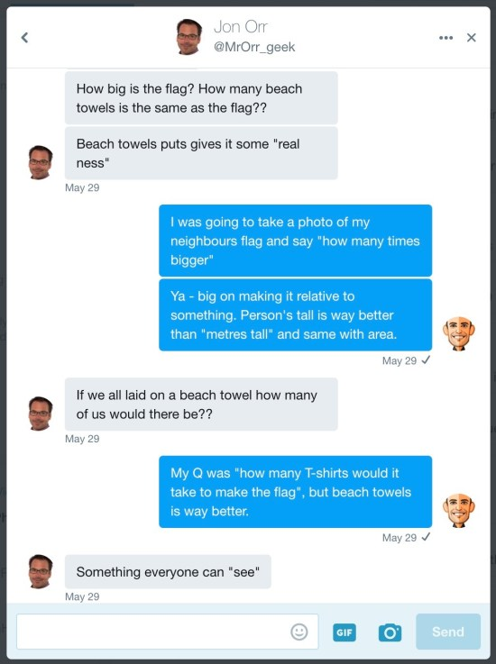 Twitter Direct Message With Jon Orr @MrOrr_geek