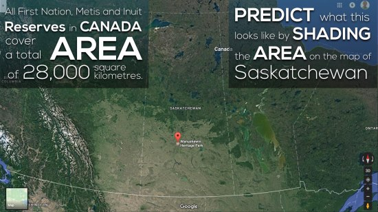 Area of Saskatchewan 3 Act Math Shade in the Area of FNMI Land