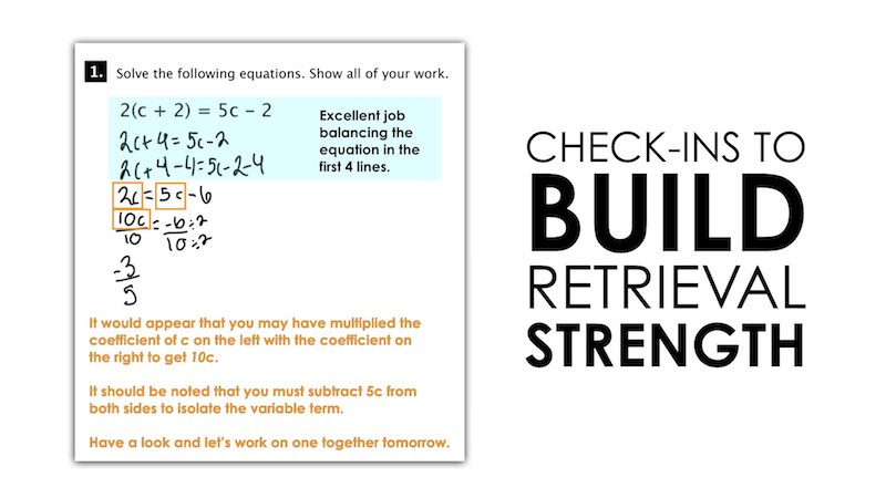 Spiralling Your Math Curriculum - Check Ins to Build Retrieval Strength