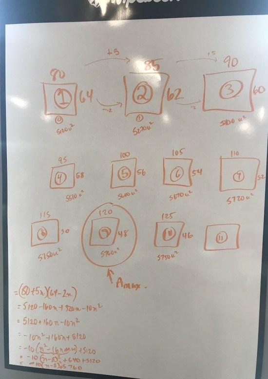 Magic Rectangle Completing The Square 3 Act Math Task Quadratics