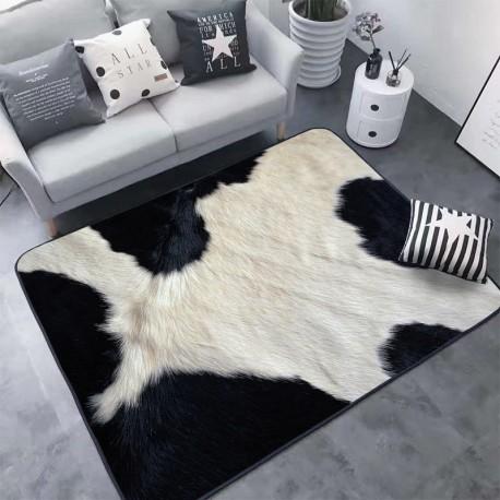 tapis a motif effet peau de vache