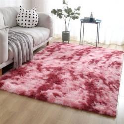 tapis shaggy rose fushia clair