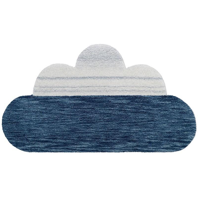 tapis bebe greta bleu nuage par nattiot