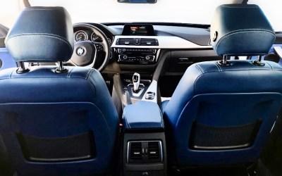 BMW SERIE 3 GT en cuero azul