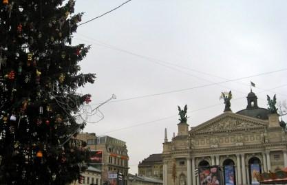 L'viv New Year tree & Opera House