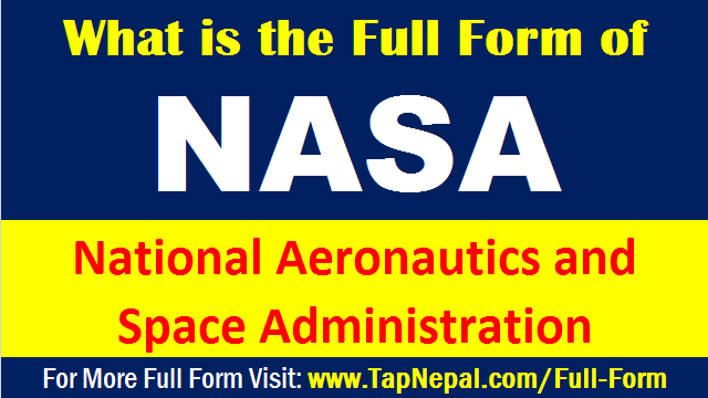 What is the Full Form of NASA