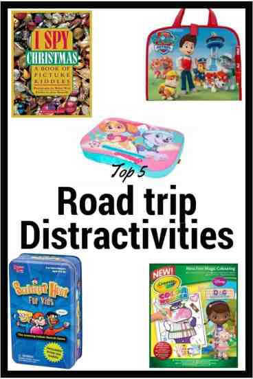 "A distractivity is something that distracts your little ones from the pain and suffering that is ""the waiting game"" while traveling. They can make or break any vacation"