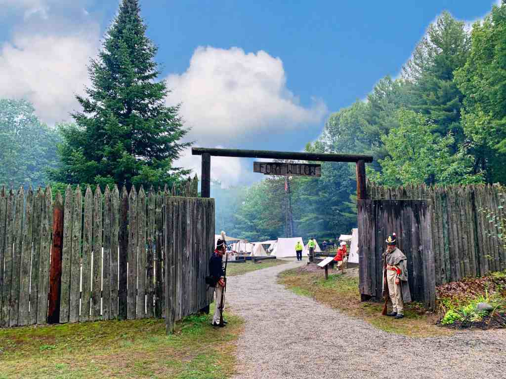 Fort Willow is one of the most historic sites in central Ontario. Visitors can explore the site and have a picnic or walk the beautiful surrounding trails. Throughout the Fort, information kiosks provide visitors with the outstanding history of the area.