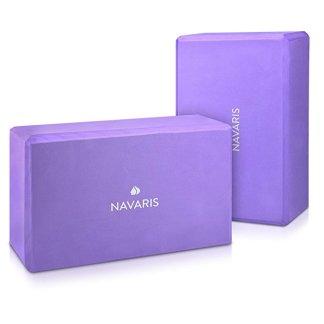 set blocchi yoga EVA Navaris viola