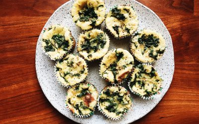 Kale, Salami and Mozzarella Egg Muffins