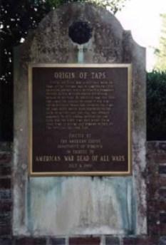 The Taps monument at Berkeley Plantation