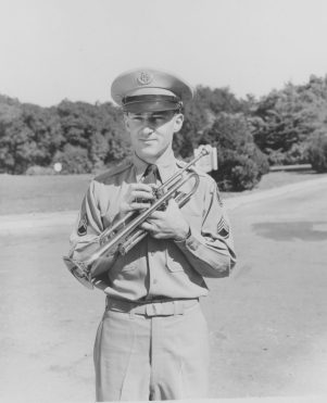 Keith Clark in the 1950s at Fort Myer