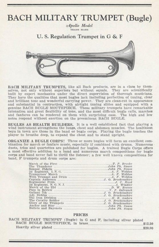 Fig. 1, Bach Bugle--Catalog