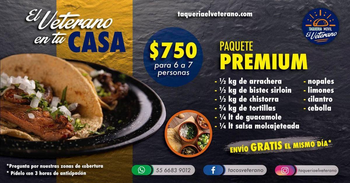Paquete Premium El Veterano taquería móvil
