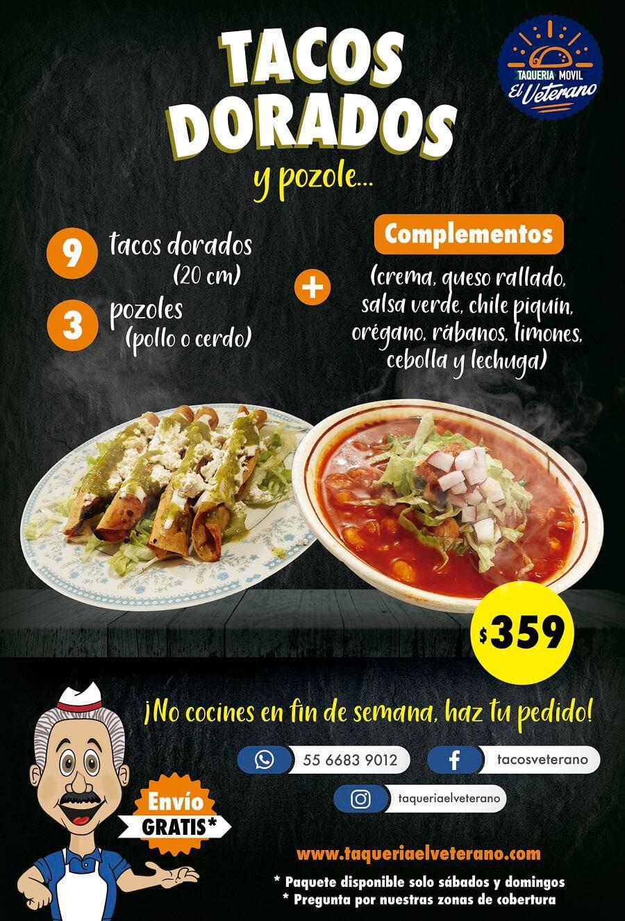 Tacos Dorados y Pozole