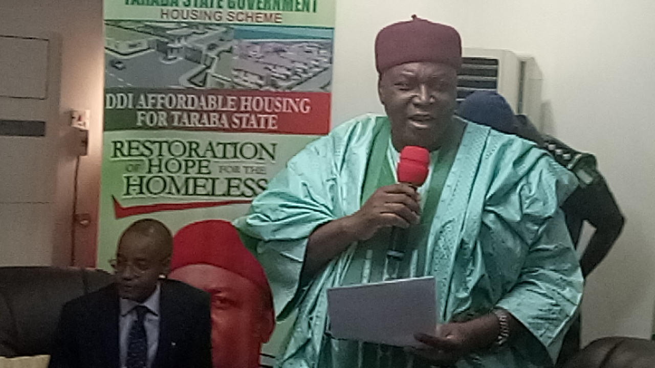 Gov. Ishaku delivering his speech during the visit of DG of NACA