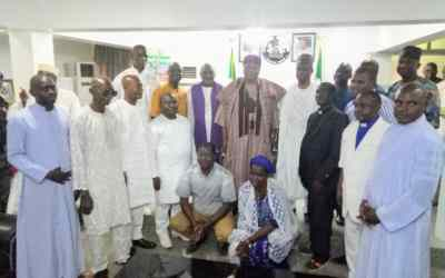 CAN Executives in a group picture with His Excellency, Arc.Darius Dickson Ishaku at Government House, Jalingo