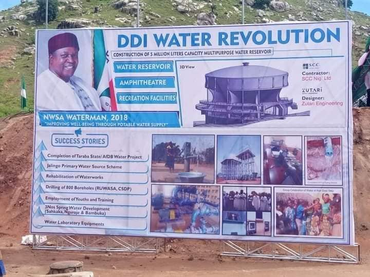 Gov. Ishaku Flags Off Construction of 5 Million Litre Water Reservoir to Boost Water Supply in Jalingo