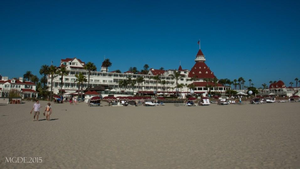 Hotel Del Coronado from the beach