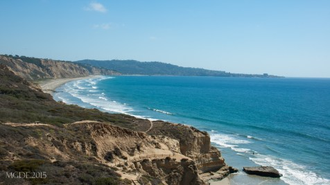 View of Gliderport from one of the cliffs at Torrey Pines State Park.
