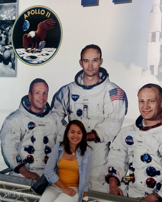 With Apollo 11 crew - Armstrong, Collins, Adrin