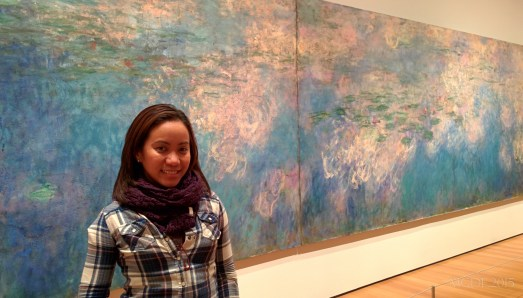 Aimee with Claude Monet's Water Lillies.