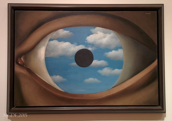 The False Mirror by Rene Magritte, 1928.