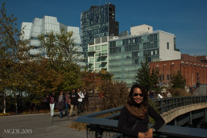 The IAC building on my right, also referred as 'the sail building'