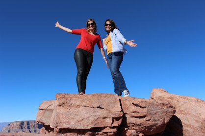 Posing with Laura at the top of Guano Point.