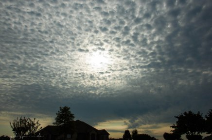 Stratus clouds over Edmond
