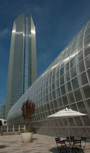 The Myriad Botanical Garden and the 44th tallest building in the US.