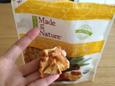 Made in Nature Organic Pineapple 甘酸っぱいパインのドライフルーツ