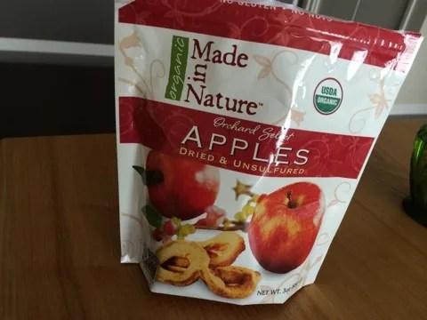 iherbおやつ Made in Natureリンゴのドライフルーツ