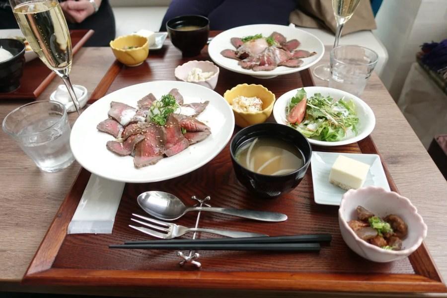 今泉 ローストビーフ丼!ワインカフェ コパンコピーヌ