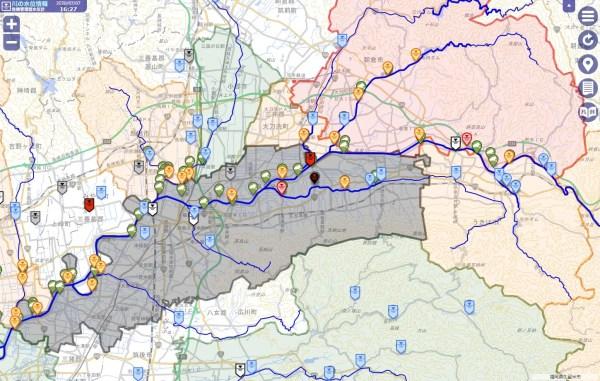 大雨で増水した川の状況を調べるのに川の水位情報確認サイトが便利