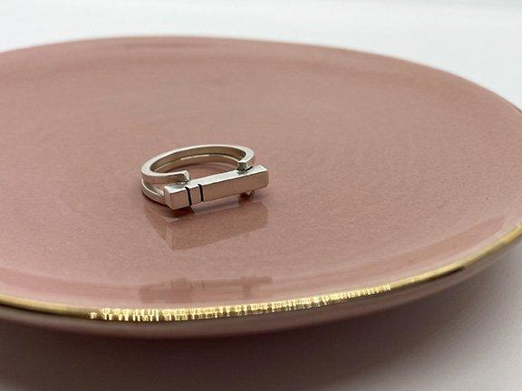 taraelaina silver statement ring