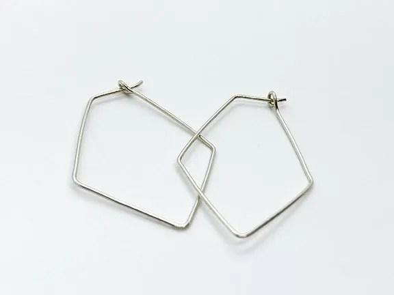 delicate silver diamond hoop earrings